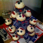 July 4 Cupcake Display