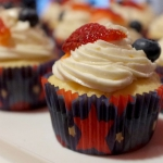 Lemon Cupcakes with Berries