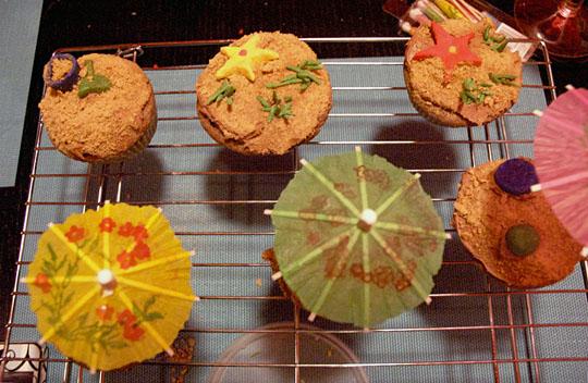 Seashore Cupcakes