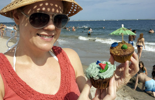Seashore Cupcakes by Amelie