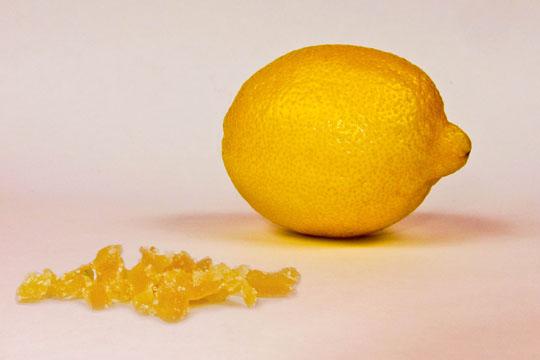 crystallized ginger and lemon