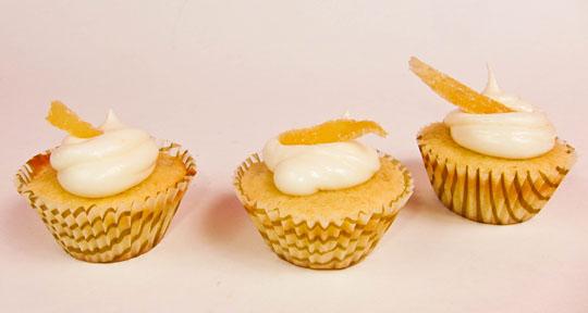 lemon ginger mini cupcakes