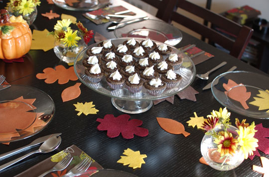 Cupcakes on table