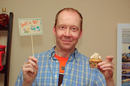 Brett birthday cupcake