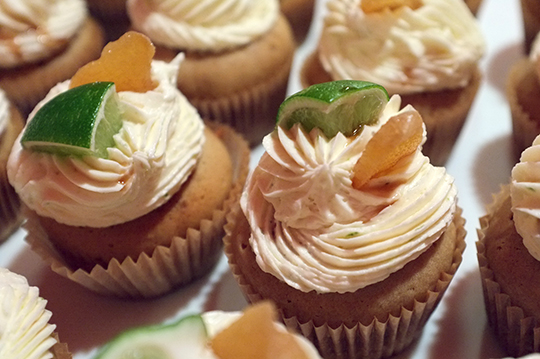 Dark and Stormy Cupcakes with Rum