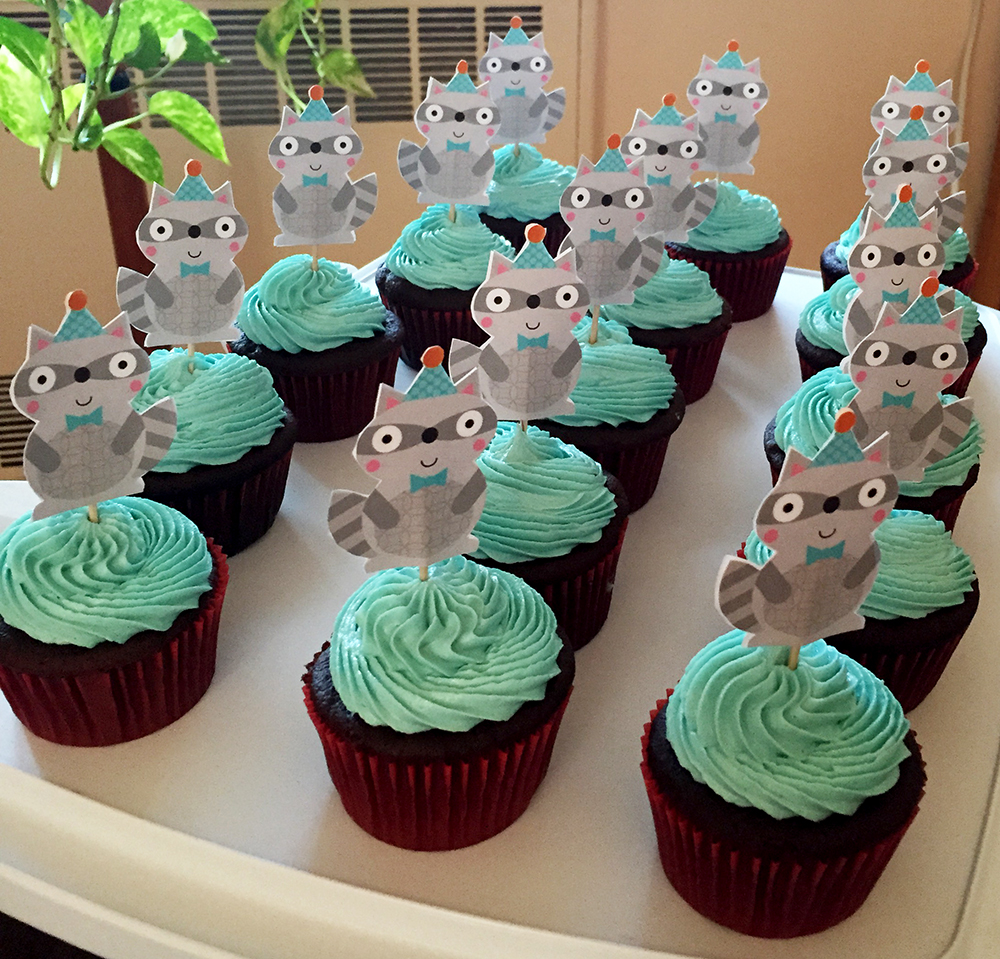 Raccoon Cupcakes