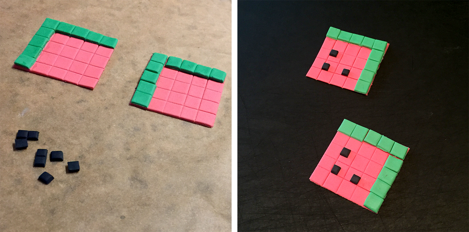 Gum Paste Minecraft Watermelons