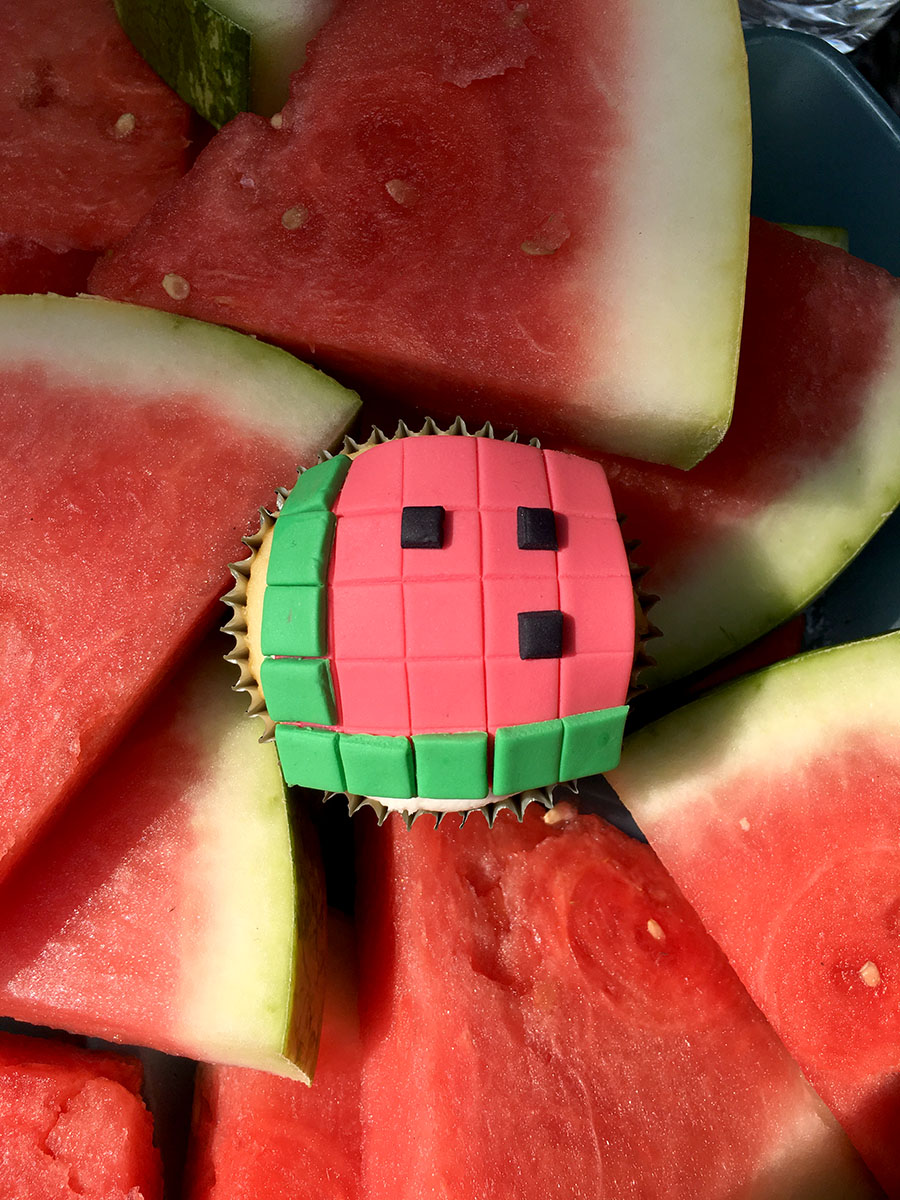Watermelon Cupcake by Amélie