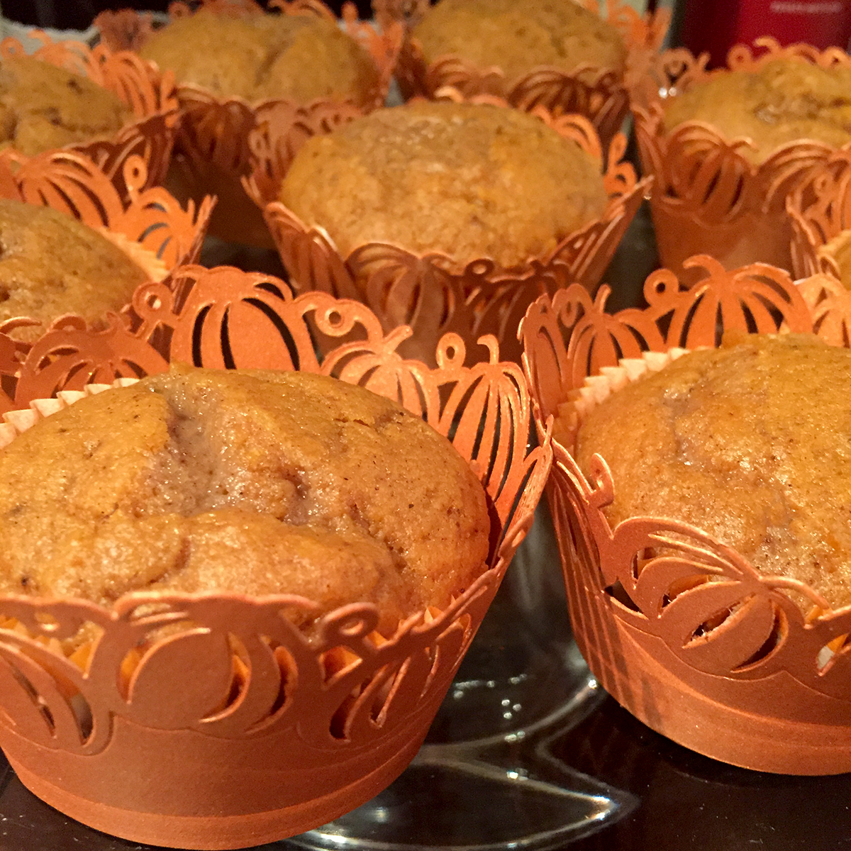 pumpkin cupcake wrappers
