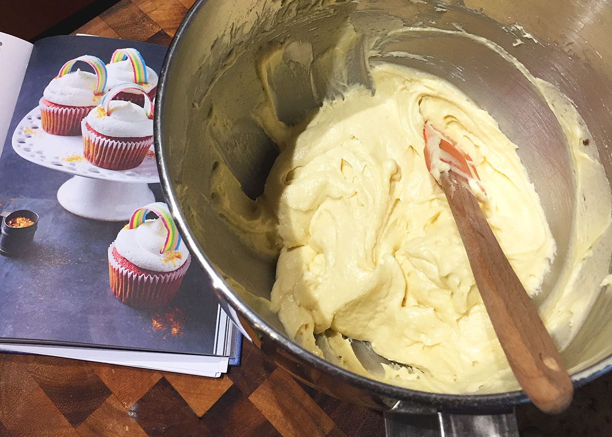 Baking Rainbow Cupcakes