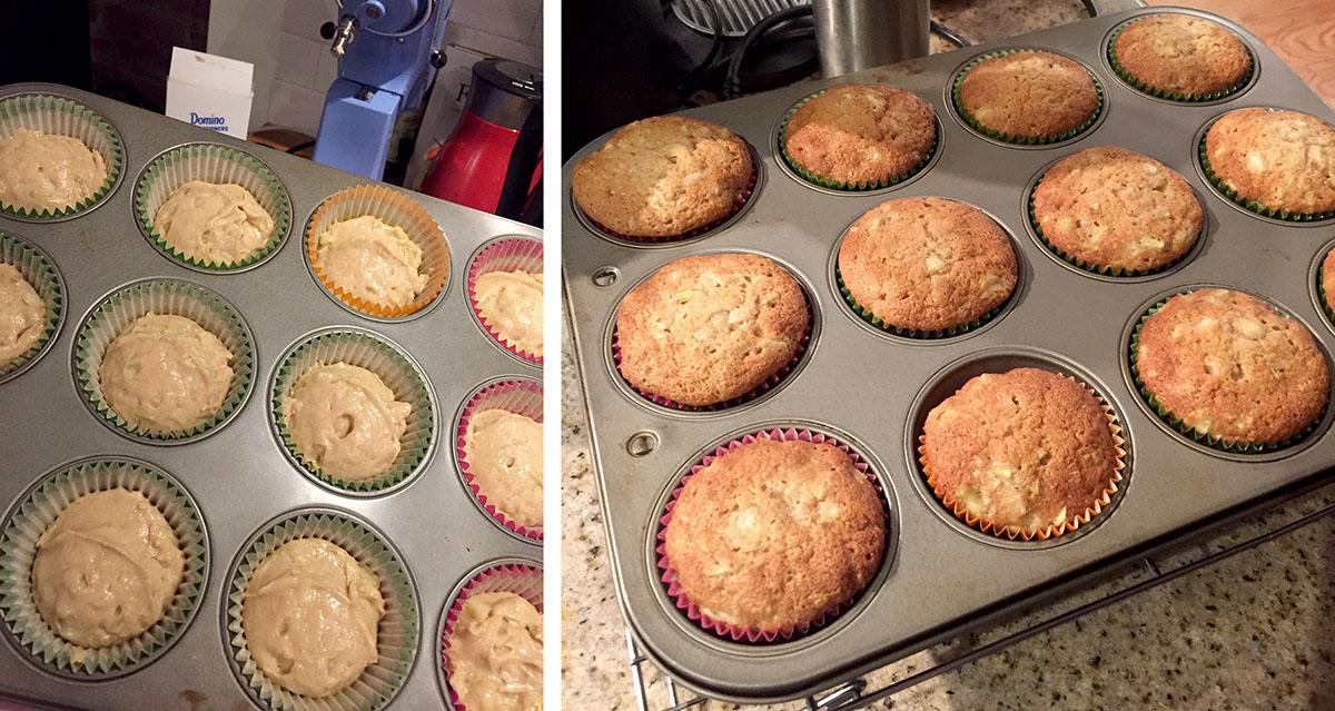 Baking Pear Cupcakes